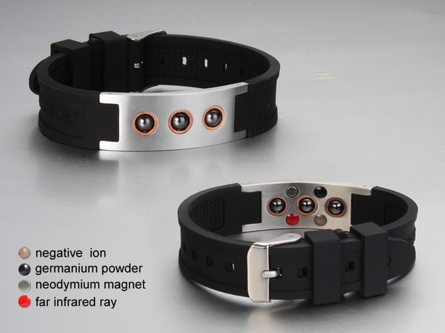 Multicolor Power 1000 ions Sports Titanium Steel Bracelet Wrist Band