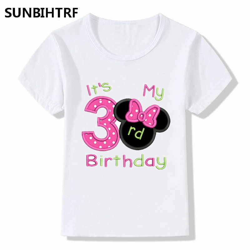 New Big Boy Girl Happy Birthday 1 9 Letter Printed Cute T Shirts