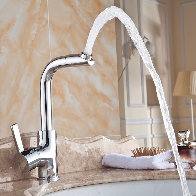 European classic modern faucet hot cold copper basin 360 degree ...