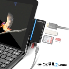 Rocketek usb di tipo C 2.0 scheda di memoria lettore di schede o HUB 4 K HDMI adattatore per SD, TF micro SD Microfoft Superficie go accessori per computer