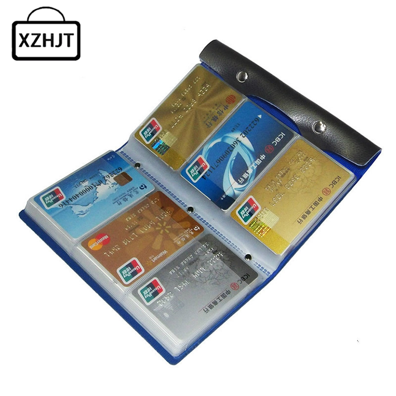 Fashion 108 Slots Credit Card Holder Function PU Leather Business Card Women Credit Passport Card Bag ID Passport Card Wallet