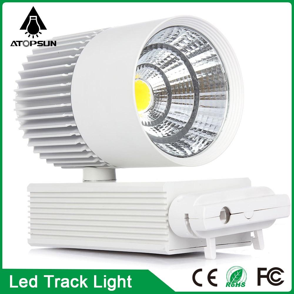 ФОТО Free Shipping Wholesale 20W  COB LED Track light, 85-265 Volt LED Wall Track lamp business lighting rail track lighting