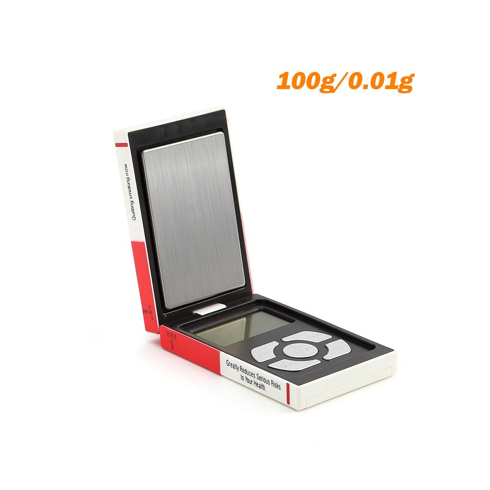 Cigarette Case весы 0 01g 500g Stainless Steel Jewelry Scale Calibration Pocket Size Digital Cigarette Box Shaped Weight Scale in Kitchen Scales from Home Garden