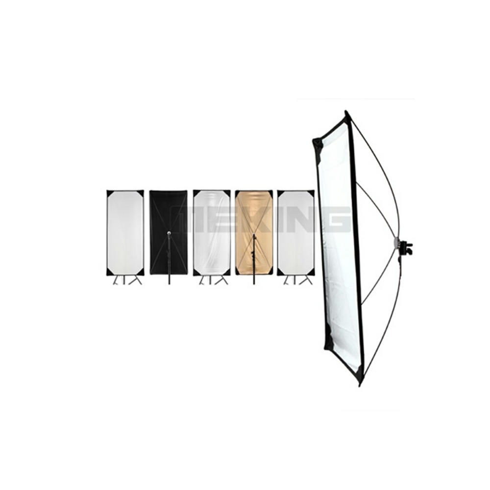 Meking 5in1 100*220cm 40*87inch Reflector photography square Light Control Panels System with fabrics photography light control panels system fabrics 5 in 1 lighting photo reflector 70 100cm 28 40inch