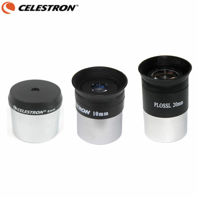 Celestron Telescope Plossl HD Eyepiece Set 4mm 10mm 20mm Multi-Coated Lens Astronomical Monocular with 1.25 Inches Filter Thread экваториальный клин celestron hd pro