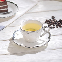 Ceramic Elegant Coffee Cups and Saucers Nordic Style Milk Cup Set Home Office Afternoon Tea Milk Set Fancy Gifts
