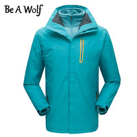 Be A Wolf Winter Warm Hiking Jacket Women Men Outdoor Camping Clothes Fishing Waterproof Windbreaker Heated