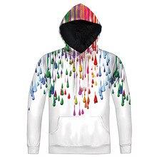 Größe M-5XL Mode harajuku stil Hoodie Regenbogen Tropft Lustige Printed Sweatshirt Männer Frauen 3D casual Crewneck Pullover