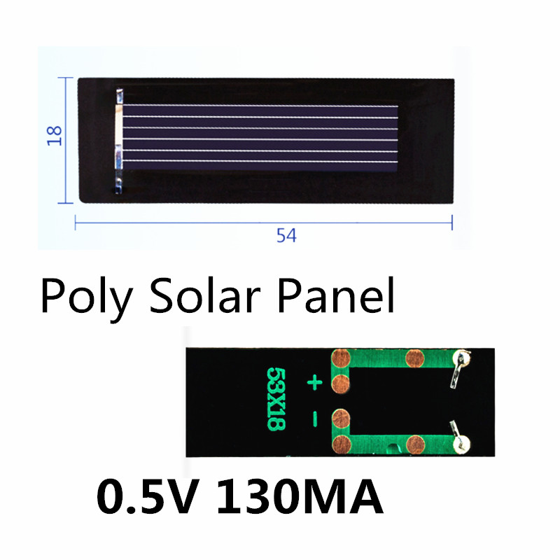 Mini Poly Solar Panel 0.5V 130MA for DIY handmade fan cap