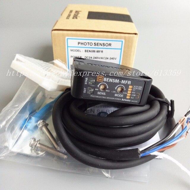 BEN5M MFR AC/DC Autonics Retroreflektif Fotoelektrik değiştirme sensörü Algılama 5 Metre Röle Çıkışı % 100% Yeni Yüksek Kaliteli