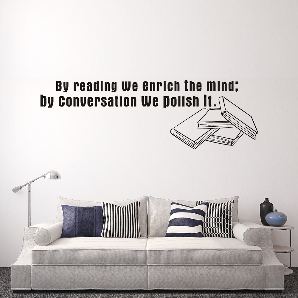 Custom Wall Sticker Art Mural Quote Waterproof Vinyl Decals Reading