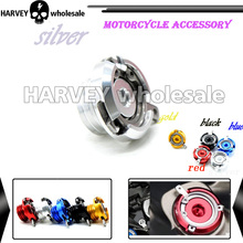 Silver Motorcycle Fuel Gas Tank Oil Cap Moto CNC Tank Cap tanks Cover FOR honda steed 400 honda steed 600 honda transalp ducati