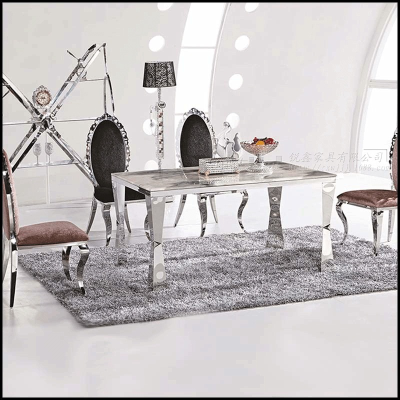 Dining Table Sets Marble 4 Chairs Modern Stylish Room Set Cheap Furniture Send From China In Tables On