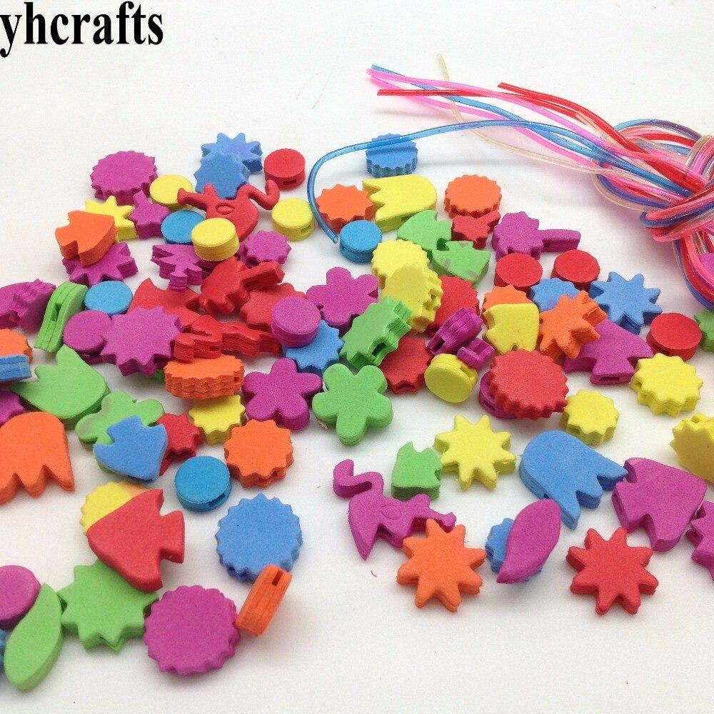 1bag(100pcs)LOT.Flower animal foam lacing beads.Creative handwork.Early educational toys.Do your own bracelet.DIY crafts.OEM