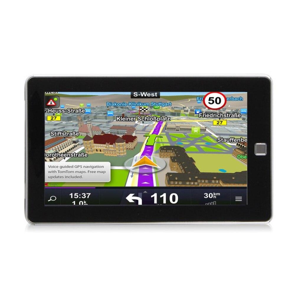 """Новый 7 """"автомобиль грузовик GPS навигации E80 256 м + 8 ГБ fm навигатор Реверсивный Камера touch Сенсор точно позиция черный 190*114*13 мм"""