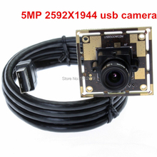 Cheapest prices 8mm lens 5MegaPixel 2592*1944 CMOS OV5640 cctv board USB2.0 mini HD digital UVC usb camera module for microscope endoscope