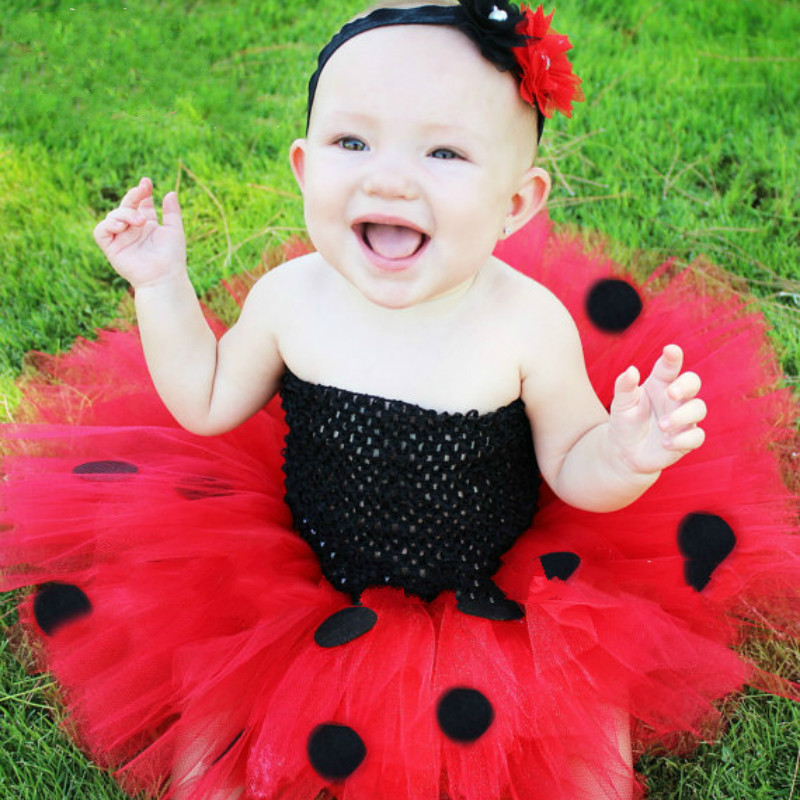 a942cb158d Cute Girls Red Black Mickey Tutu Dress Baby Fluffy Tulle Dress with Flower  Headband Kids Birthday Party Cosplay Costume Dresses-in Dresses from Mother  ...