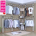 Steel angle simple wardrobe Korean open corner wardrobe combination DIY cloakroom