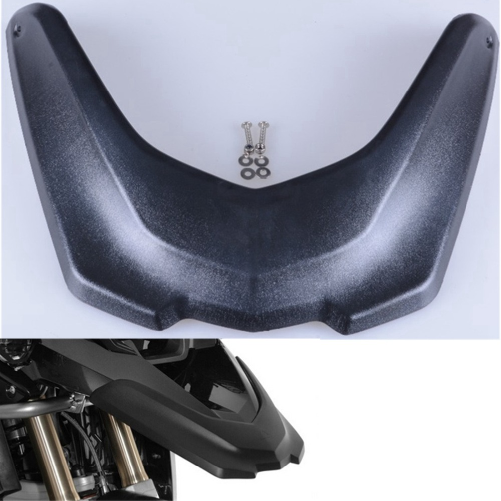 1pc Black Motorcycle Accessories Front Fender Beak Extension Extender Wheel Cover Cowl For BMW R1200GS LC 2013 -2016 motorcycle accessories 650tr left front fender