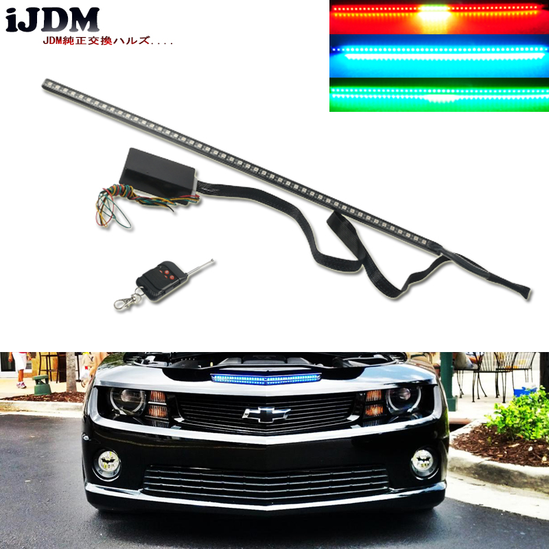 iJDM 48-LED RGB 7-Color LED Knight Rider Scanner Lighting Bars For Camaro SS Under Hood Malibu City Express for BMW E60 E39 F50 худи print bar red hood arkham knight edition