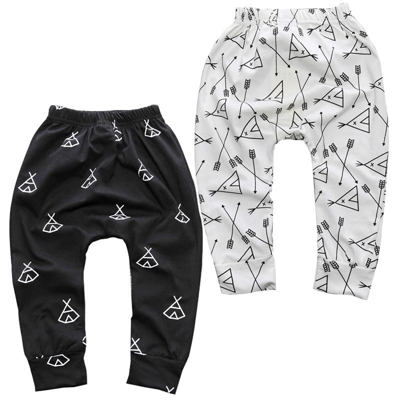 New Arrival Geometric Pattern Baby Pants Cotton Babys Boys Girls Harem PP Pants For Infant Newborn Trousers Boy Girl Clothing