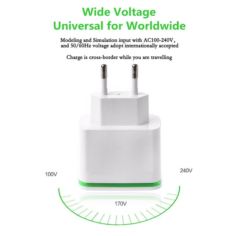 Nätadapter laddare w Dual USB Utgång för Iphone Ipad + Mer Vit ( 100 ~ 240V EU Plug )