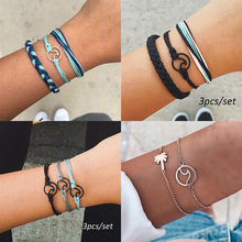 Hippie Boho Beach Surf Bracelets Vintage Multilayer Handmade Wave Bracelets Set Rope Chain Charm Adjustable Bangles Girl Jewelry cheap VONRU Charm Bracelets Women Zinc Alloy TRENDY All Compatible Fashion ZLS394 None Metal geometric Mood Tracker LOBSTER Trendy Classic Casual Sporty Fashion Ethnic Boho
