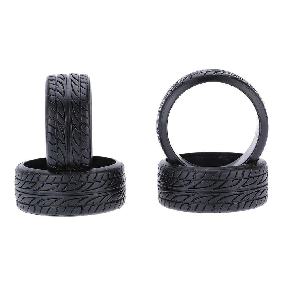 4 stks/set 1/10 Graan Drift Rubber Hard Tyre voor Traxxas Tamiya HPI Kyosho RC Drift Model Auto