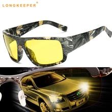 LongKeeper Yellow Lens sunglasses Women Men Night Vision Anti-Glare Car Driver polarized Sun glasses Gafas de sol feminino