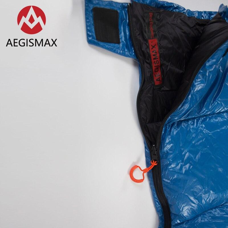 AEGISMAX SP Ultralichte 650FP 90% Witte eendendons slaapzak camping Outdoor en Familie Open het pakket kan worden gebruikt een quilt - 2