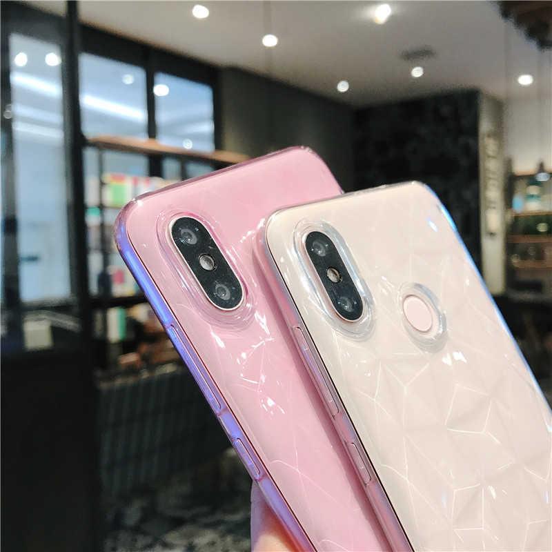 Lovebay чехол со стразами текстура чехол для Xiaomi 6X8 SE MIX 2 S Pocophone F1 Redmi 4A 4X 5A 6 Pro Роскошный ультра тонкий мягкий прозрачный чехол для телефона