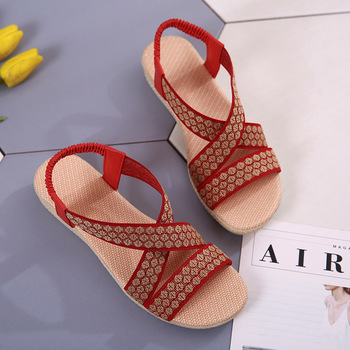 Summer Sandals Women Casual Beach Flat Shoes 2018 New Arrival Bohemian Sandles Gladiator Wedges Slingback Sandalias Mujer