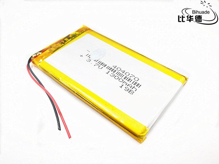 Bateria esperta do li-íon dos oradores mp3 da casa 1300 mah 3.7 v 404070 do polímero para dvr, gps, mp3,mp4, banco de potência meados de pda, e-book