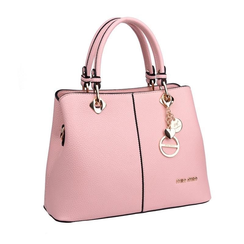 Innovative VN 2016 Khaki PU Leather Women Handbags Fashion Women Messenger Bags