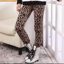 Новые леопардовые леггинсы для девочек детские теплые плотные штаны на осень-зиму одежда для малышей и детей от 2 до 6 лет, модные брюки