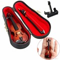 1/12 Dollhouse Miniature Wooden Violin With Stand In B Music Musical Instrument Children Toy Gift