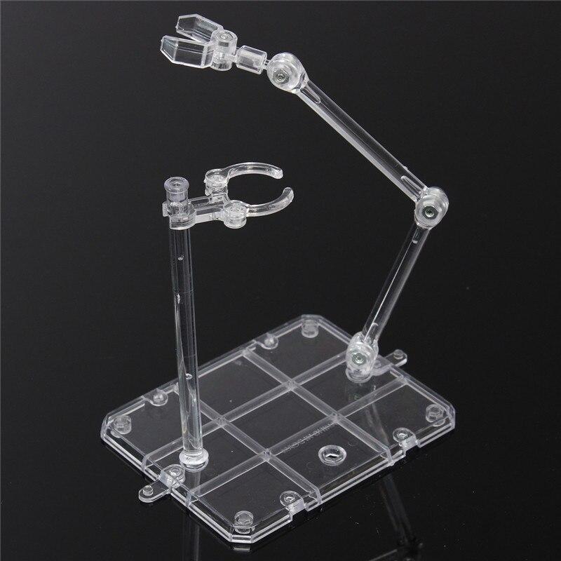 Kicute Display Stand Base de Ação Adequado para 1/144 HG/RG Figura + Gancho Azul Transparente Suporte Móvel Modelo de Laboratório braçadeira