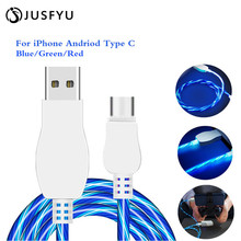 USB Cable Micro USB Cable Flowing LED Glow Charging Data Sync Mobile Phone Cables For iPhone Android Samsung Huawei Xiaomi HTC led glow charging usb cable type c cable flowing data sync mobile phone cables for iphone 6 android samsung huawei xiaomi htc lg