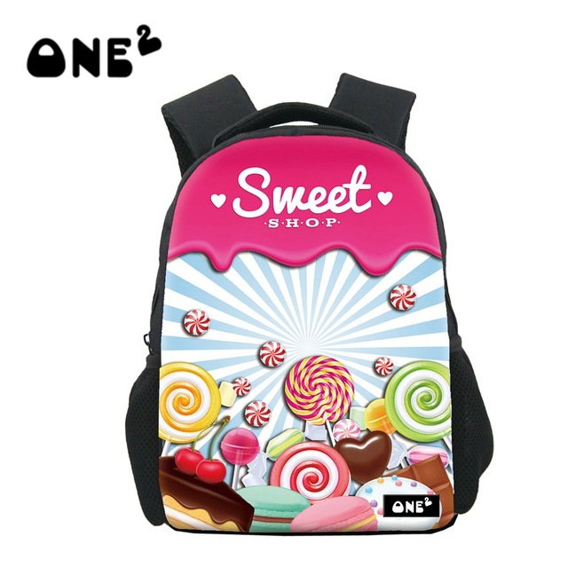 New Sweet Candy Printing School Bags for Children Small Cartoon Schoolbag  Kids Backpack Mochila Escolar Infantil Girls Boys Gift 2d5b70e712f71