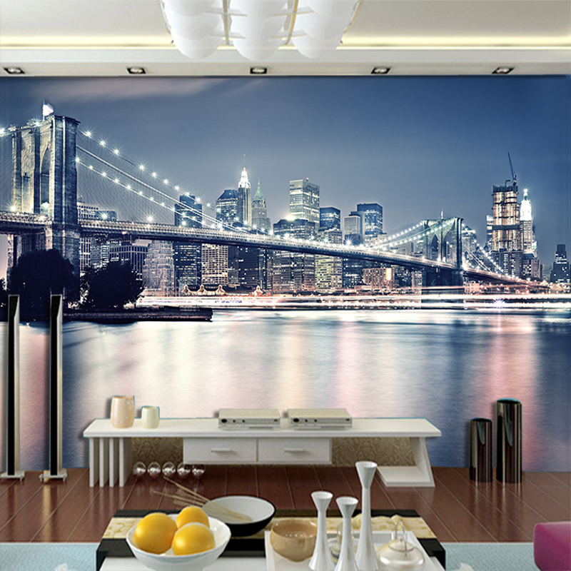 5D Papel Murals Night City Scenery 3d Wallpaper Murals for Living Room Sofa Background 3d Wall Photo Murals Wall paper white horse animal murals 3d animal wallpaper papel mural for dinning room background 3d wall photo murals wall paper 3d sticker