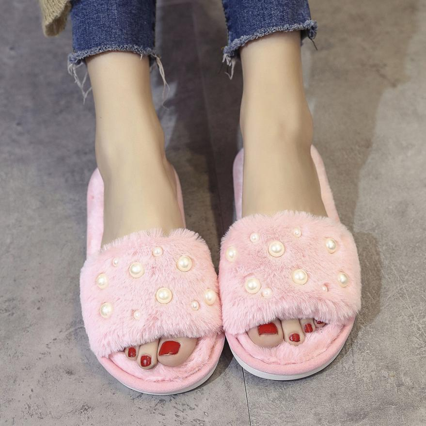 Large Size 37-40 Hot Women Slippers Fashion Spring Summer Autumn Plush Slippers Women Faux Fur Slides Flip Flops Flat Shoes 2018 flat fur women slippers 2017 fashion leisure open toe women indoor slippers fur high quality soft plush lady furry slippers