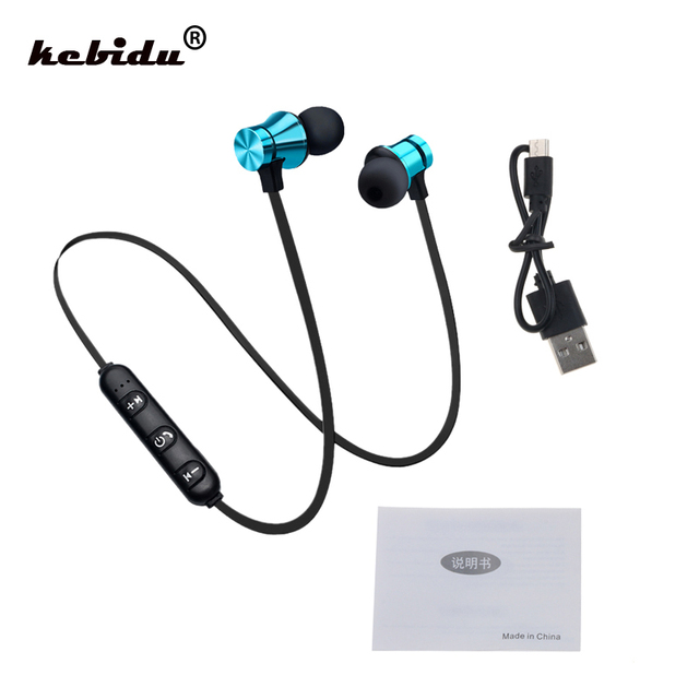 kebidu Bluetooth 4.2 Sports Earphone Headset Waterproof Magnetic Attraction Mic For iPhone X XS Max 6 8 Samsung S8 S9 huwai p20