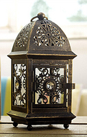Moroccan Decor Metal Wall Hanging Candle Holders Glass Wedding Decoration Candlestick Candle Lantern Maroc Decorative Cage