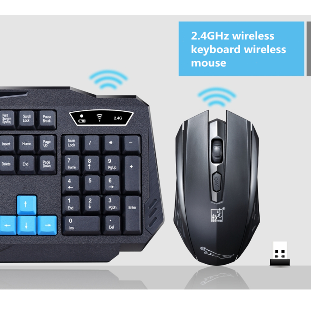 2.4Ghz Bluetooth Wireless Keyboard Mouse Combos MultiMedia wireless keyboard and mouse Siut Computer Desktops PC Slim