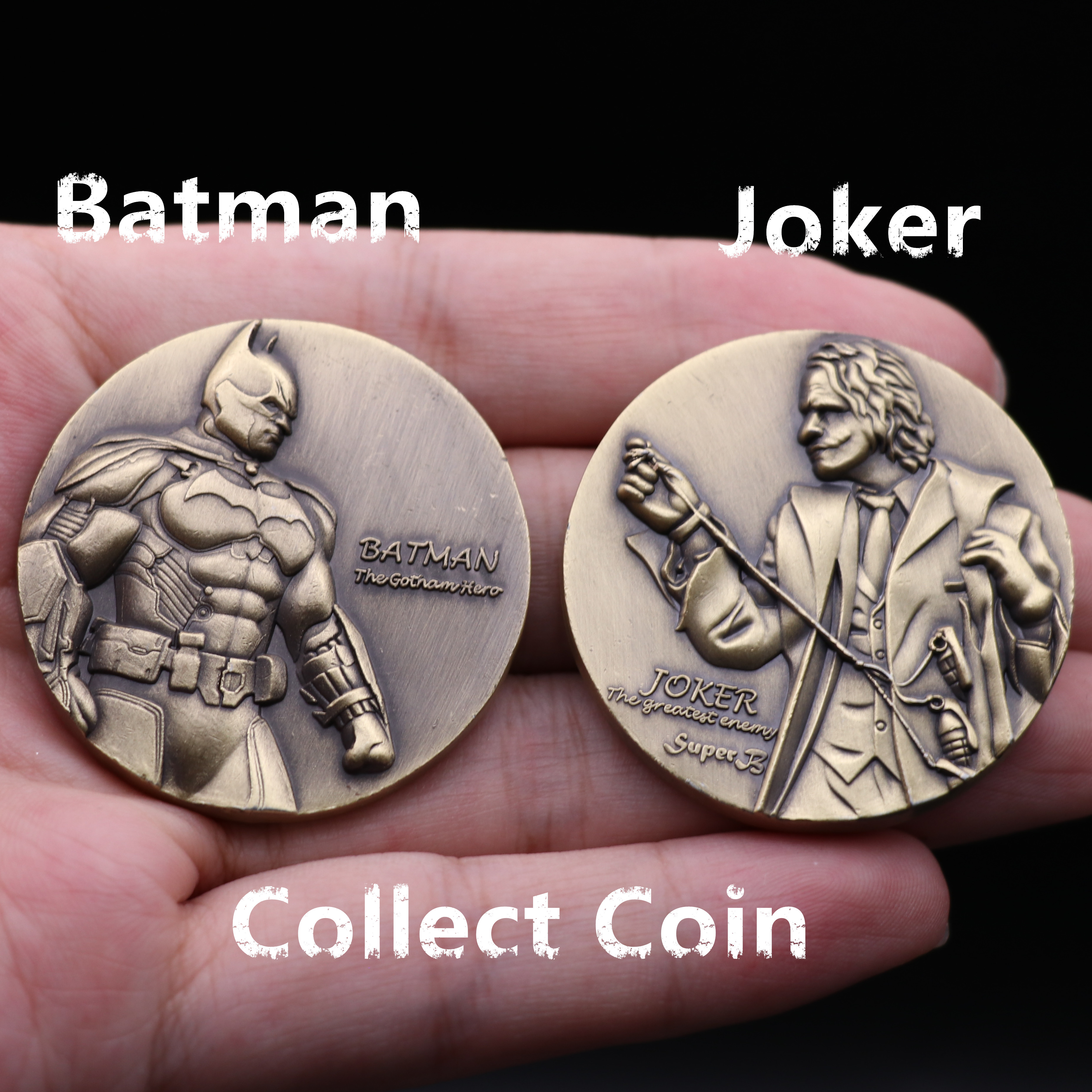 New Movie Gotham Batman Joker Collect Coin 3D Cosplay Accessories Badge Lucky Coin Decision Coin Funny Fancy Toy Christmas Gift