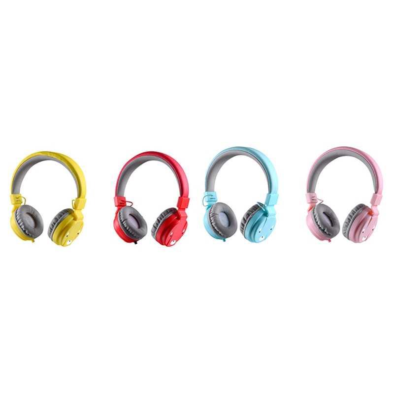 ABSQ เด็กหูฟังเด็กหูฟังชุดหูฟังแบบมีสายโทรศัพท์สาวชุดหูฟังไมโครโฟนเด็กชุดหูฟัง