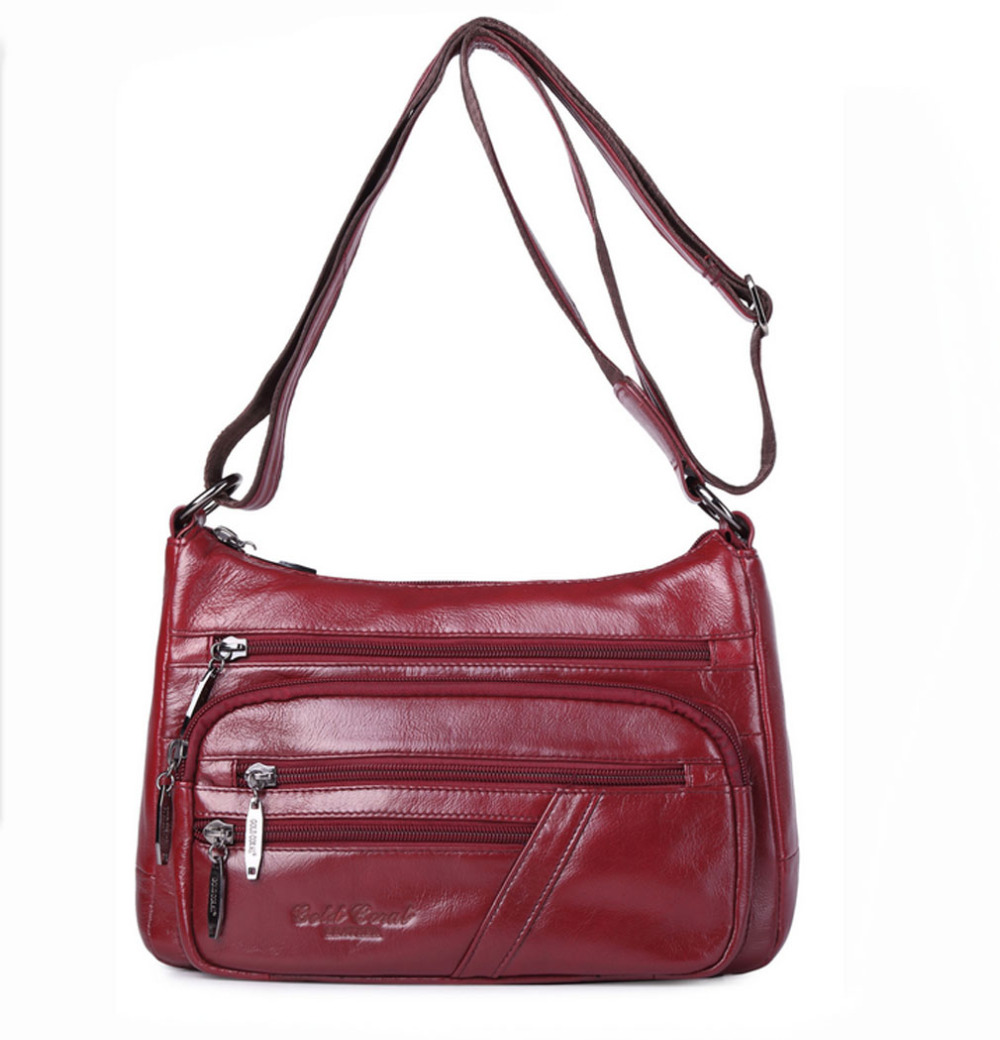 New Ladies Fashion Genuine Leather First Layer Cowhide Handbag Messenger Shoulder Pack Cross Body Luxury Trend Bag wallet new top quality ladies fashion first layer cowhide handbag messenger shoulder pack cross body luxury trend bag wallet