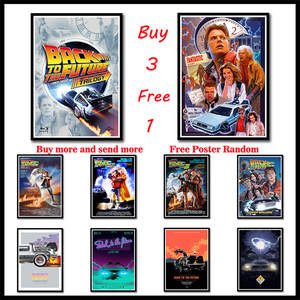 Paper Poster Wall-Sticker Science-Fiction Movies Back-To-The-Future Coated Classic Art