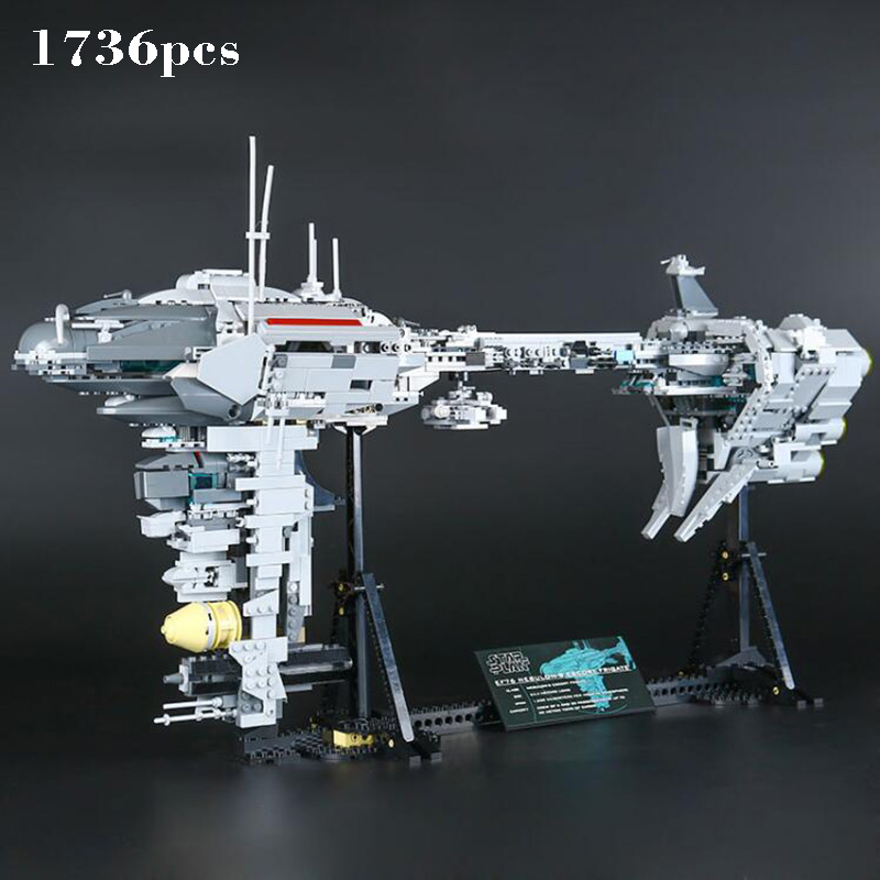 The Nebulon-B Medical Frigate Set Lepin compatible Legoinglys Star Wars Series Model Building Block brick Toys For Baby Gift lepin 22001 pirate ship imperial warships model building block briks toys gift 1717pcs compatible legoed 10210