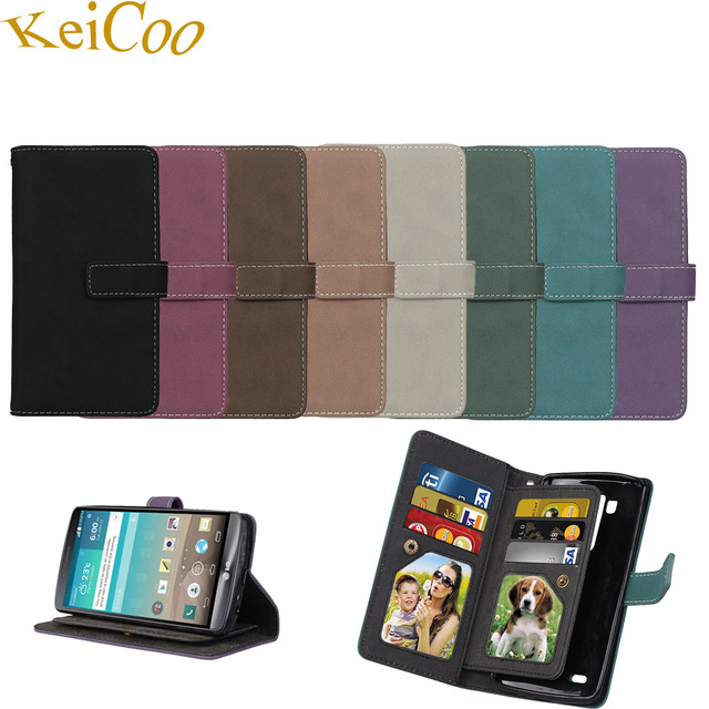 Retro Matte 9 Card Slot Phone Fundas Cases For SAMSUNG Galaxy Note 3 SM-N9005 N9002 Note3 Book Flip Covers TPU Capa Full Housing